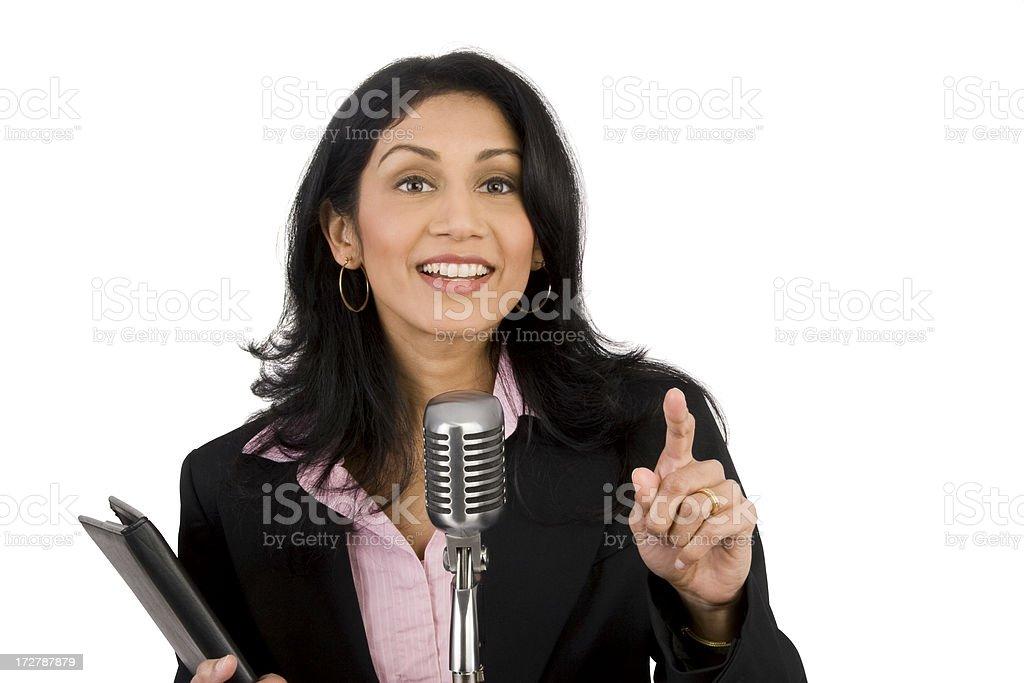 Spokeswoman Takes A Question royalty-free stock photo