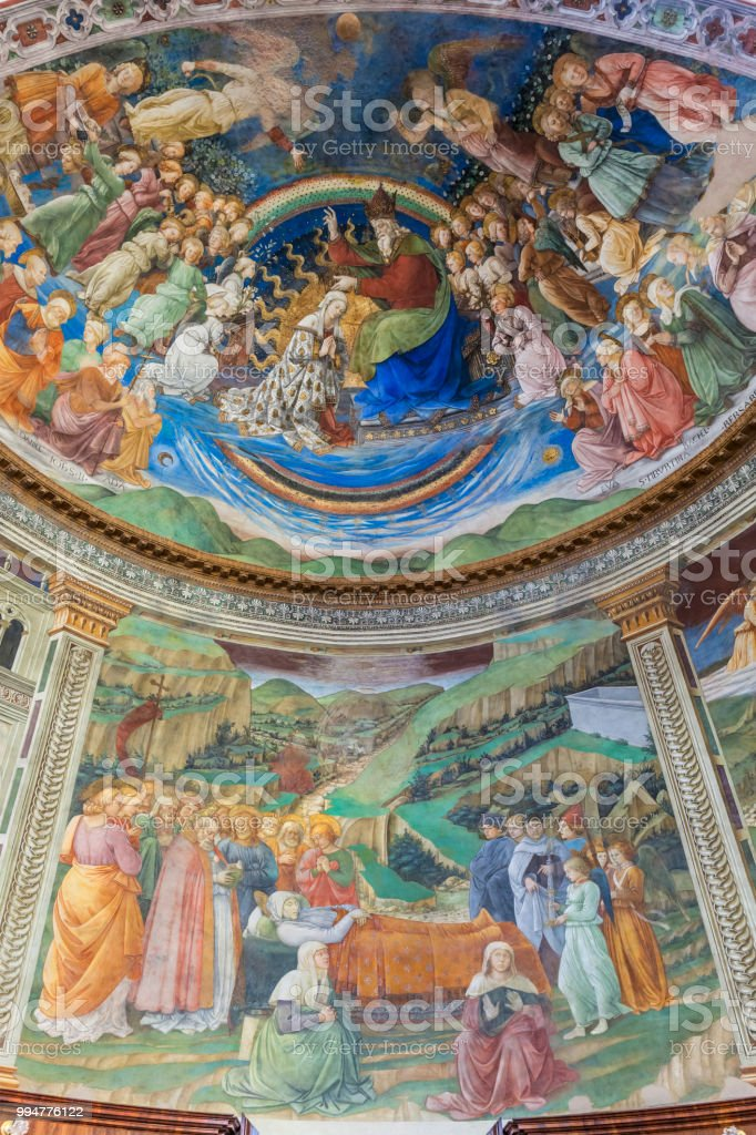 Cathédrale de Spolète, abside (Ombrie, Italie) de fresques du XVe siècle - Photo