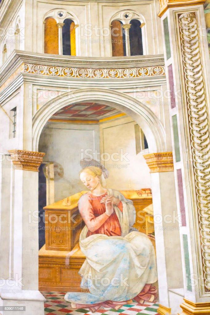 Spoleto, Umbria, Italy: Cathedral Fresco by Filippo Lippi stock photo