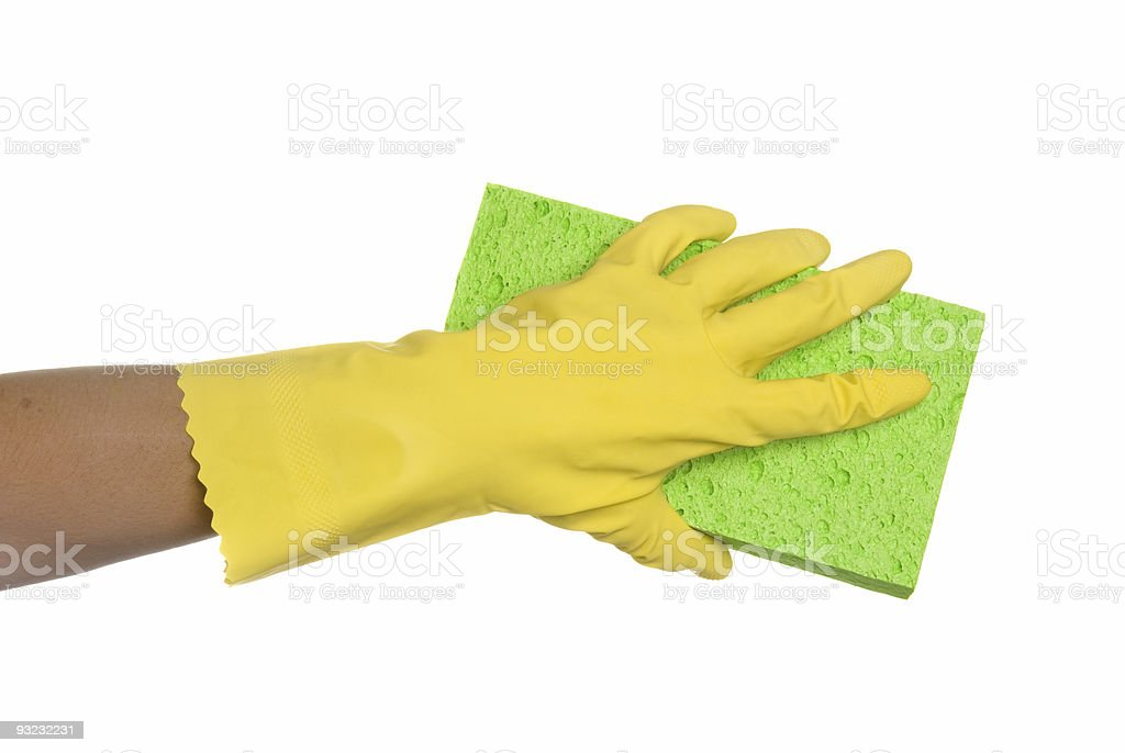 Sponge and glove stock photo