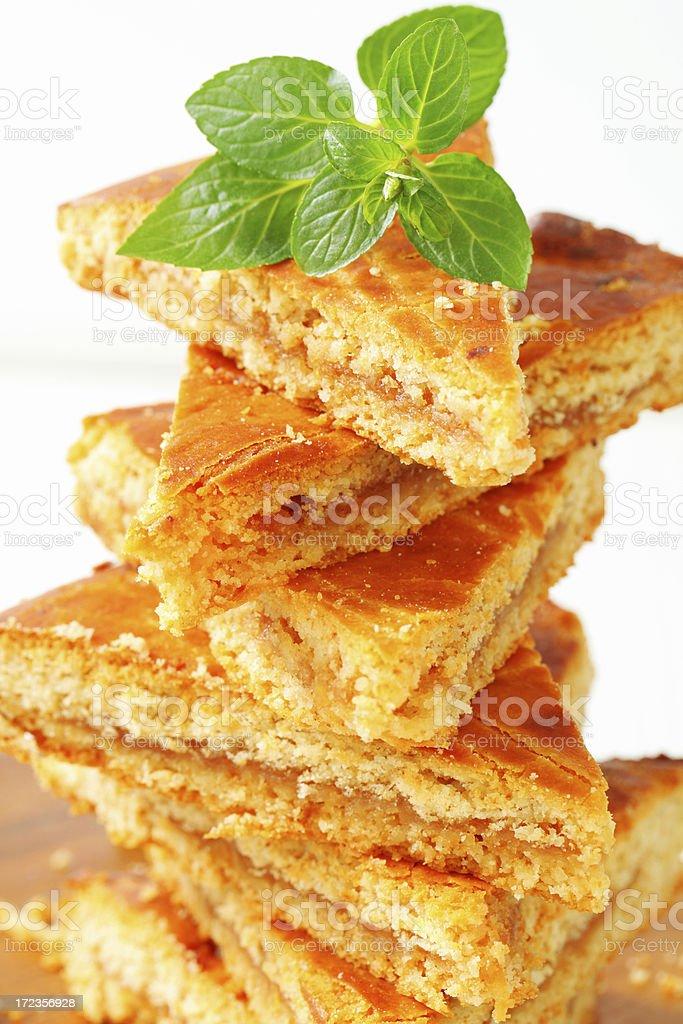 Esponja pastel de manzana foto de stock libre de derechos