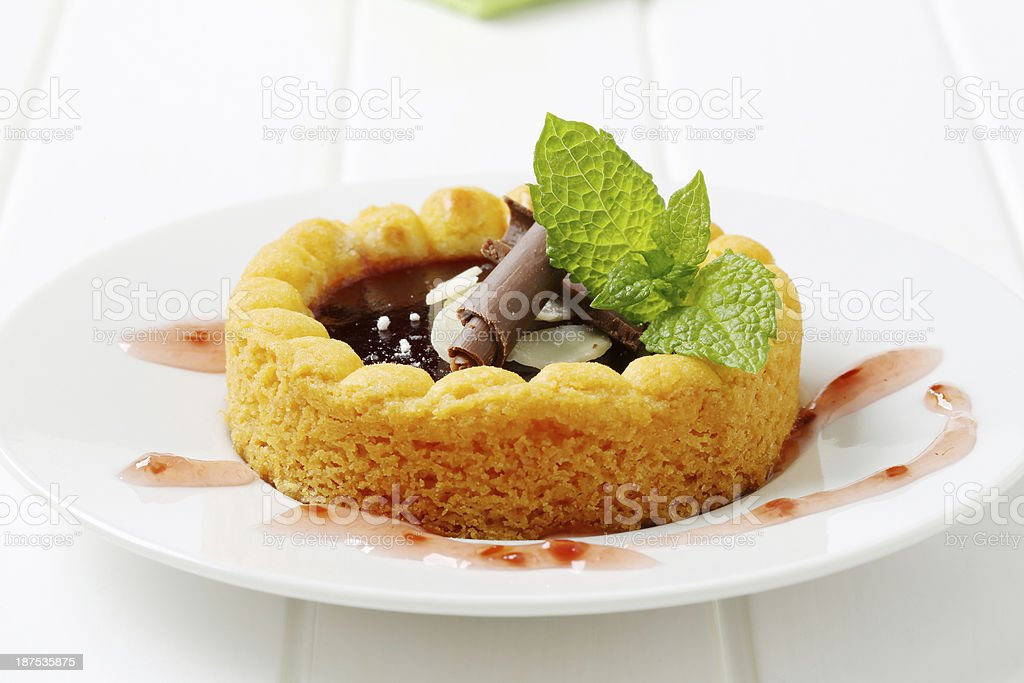 sponge cake with jam royalty-free stock photo