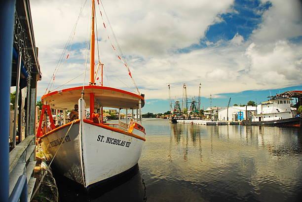 Sponge Dive Boat in Florida stock photo