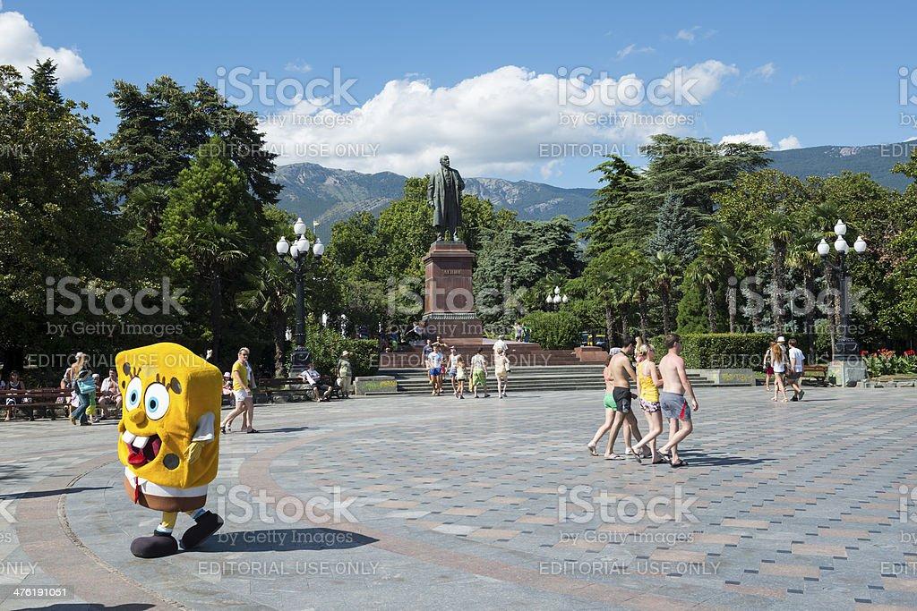 Bob Esponja Calça Quadrada e Lenin em Yalta, Crimeia - foto de acervo