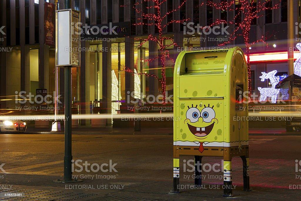 Bob Esponja Calça Quadrada caixa de correio - foto de acervo