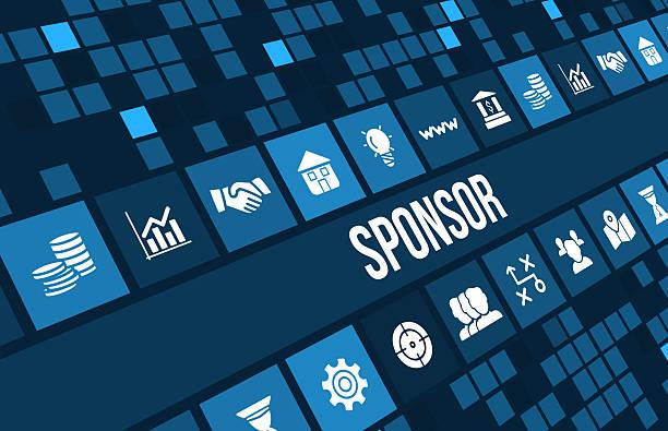 Sponsor image de concept avec icônes d'affaires et copyspace. - Photo