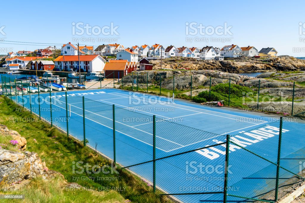 Sponsored Tennis Court Stock Photo More Pictures Of Advertisement