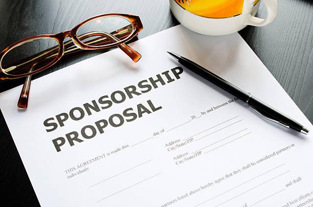 sponsorship proposal stock photo