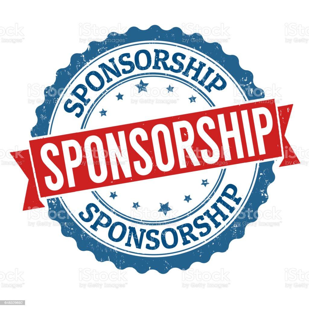 Sponsorship sign or stamp stock photo