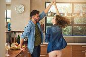 Spontaneous dancing and romancing