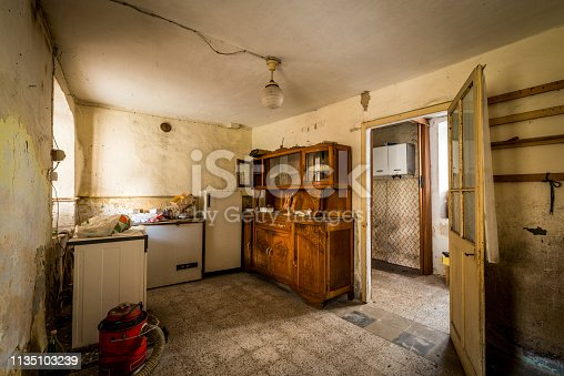 Spooky abandoned house interiors