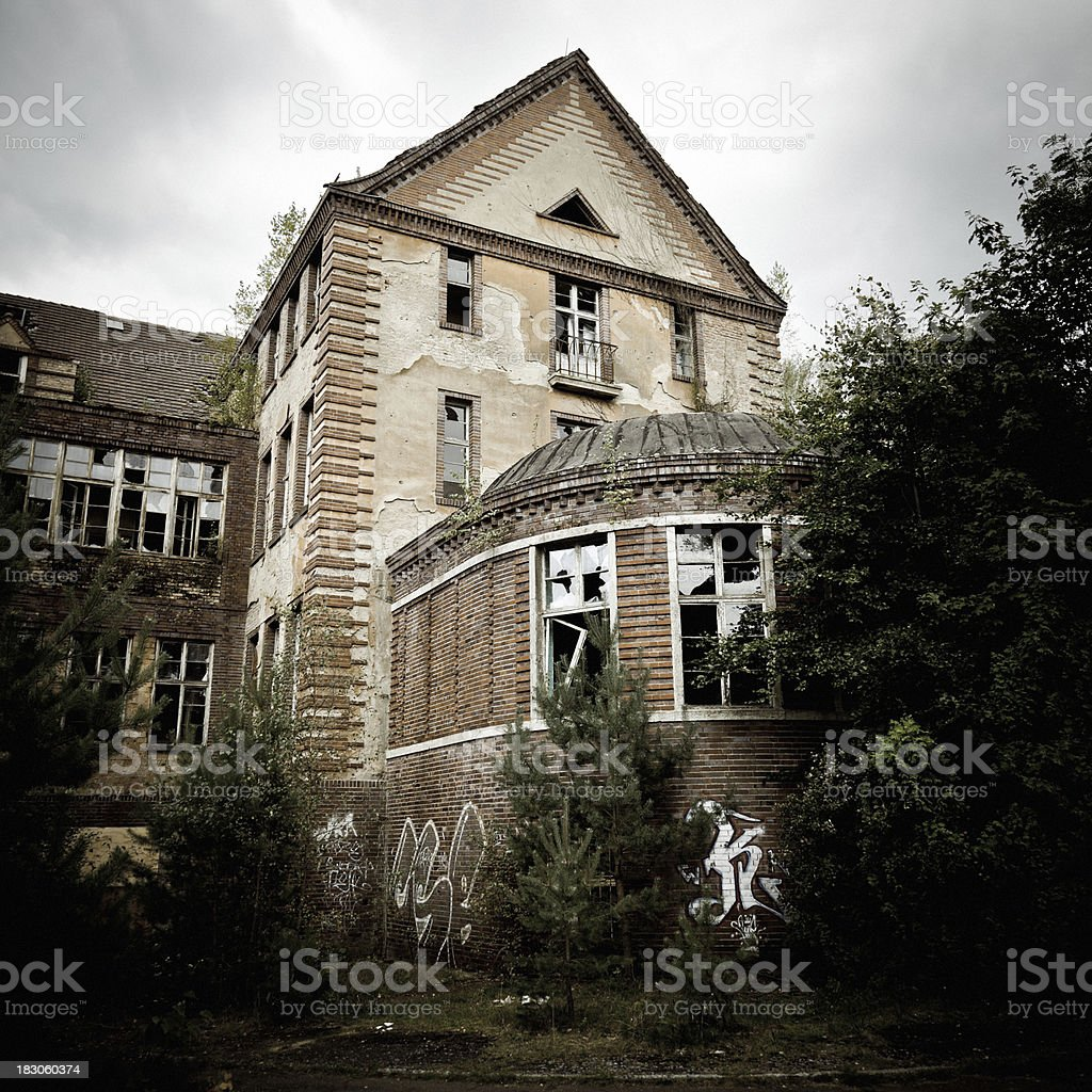 Spooky Abandoned Ruined Palace HDR royalty-free stock photo