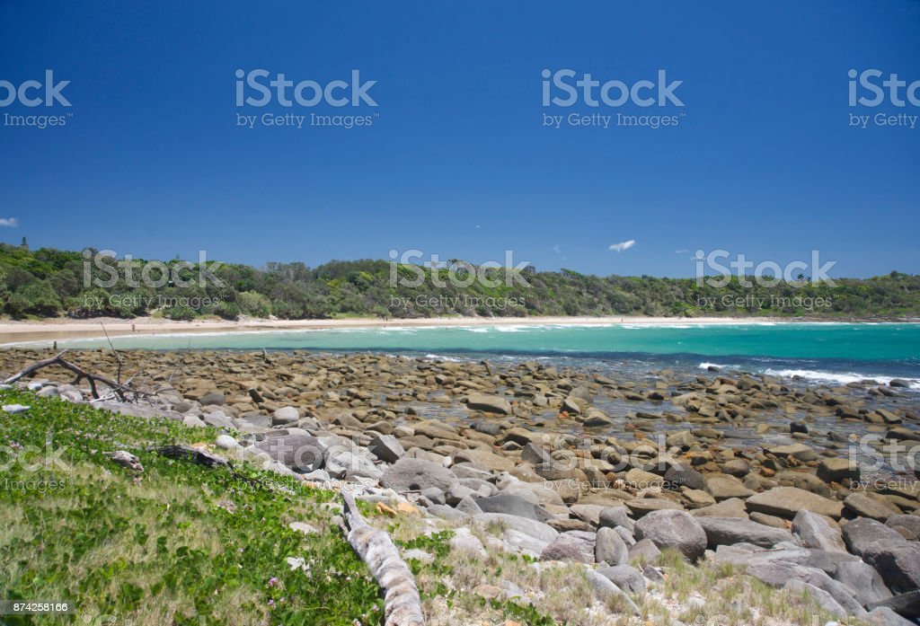 Spooky beach stock photo