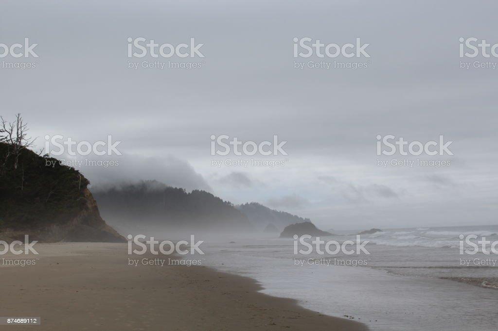 Spooky Beach stock photo