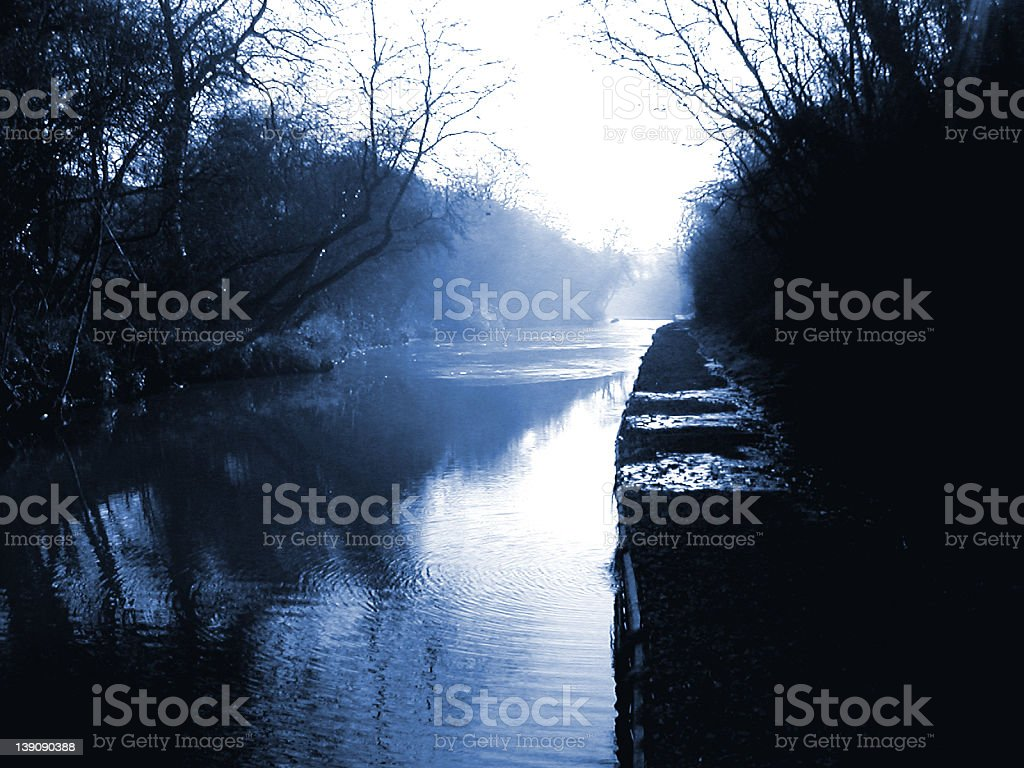 Spooky Canal royalty-free stock photo
