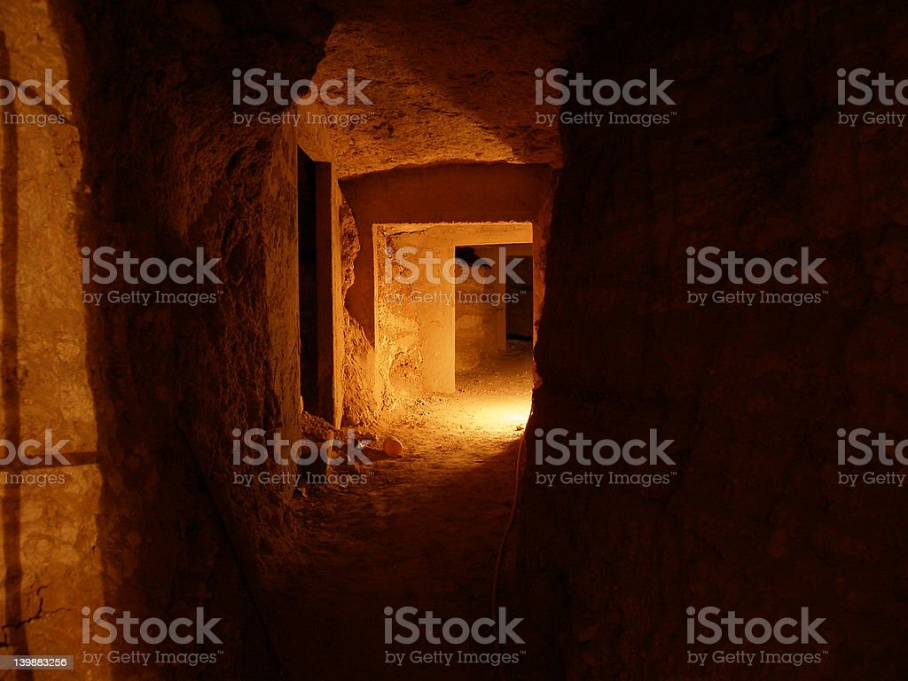 Spooky cave stock photo