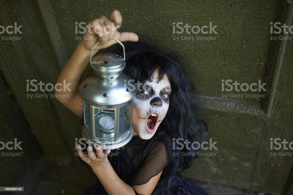 Spooky child royalty-free stock photo