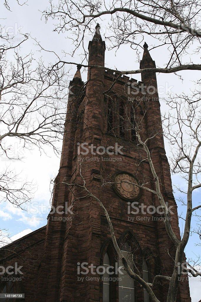 Spooky Church stock photo