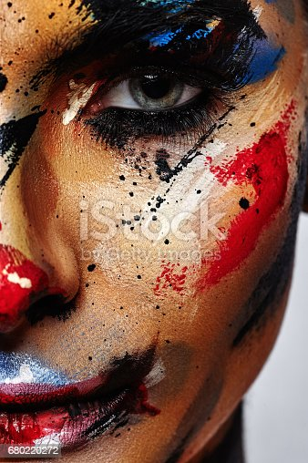 istock Spooky Clown Halloween creative Make-up 680220272