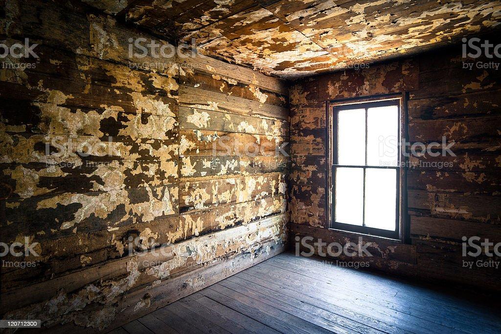 Spooky Creepy Abandoned Farm House Neglected Rotten Decay Horror royalty-free stock photo
