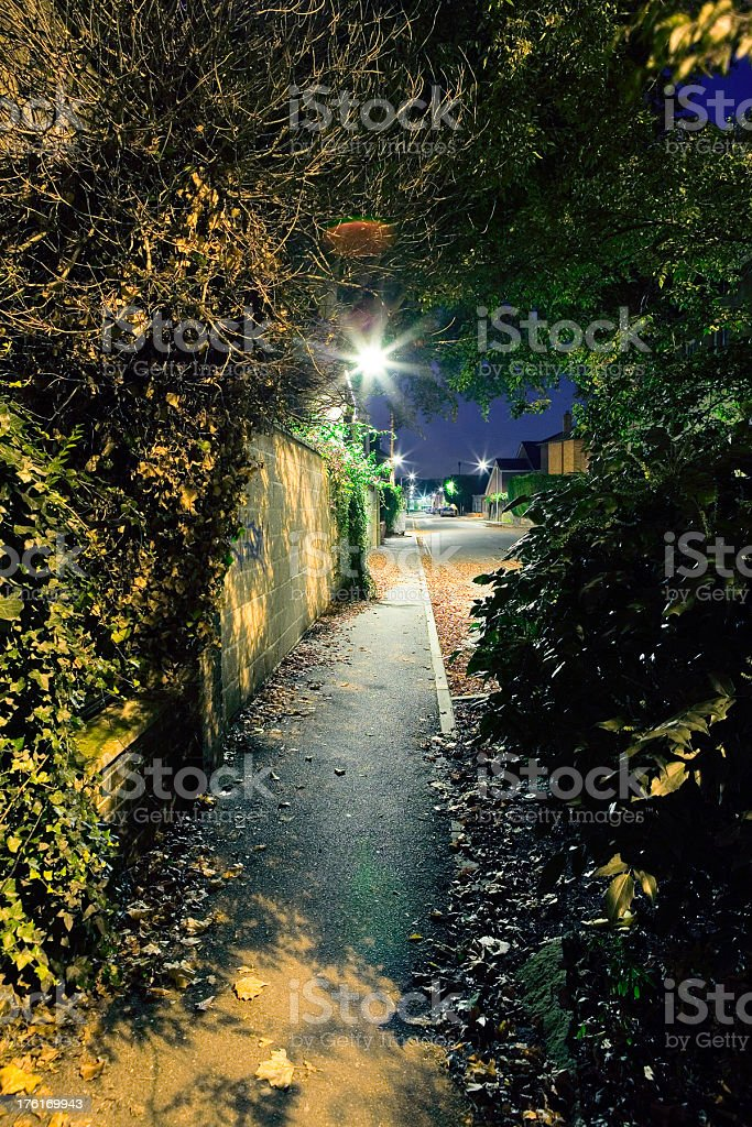 Spooky footpath royalty-free stock photo