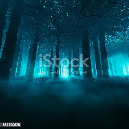 istock Spooky forest concept 861190628