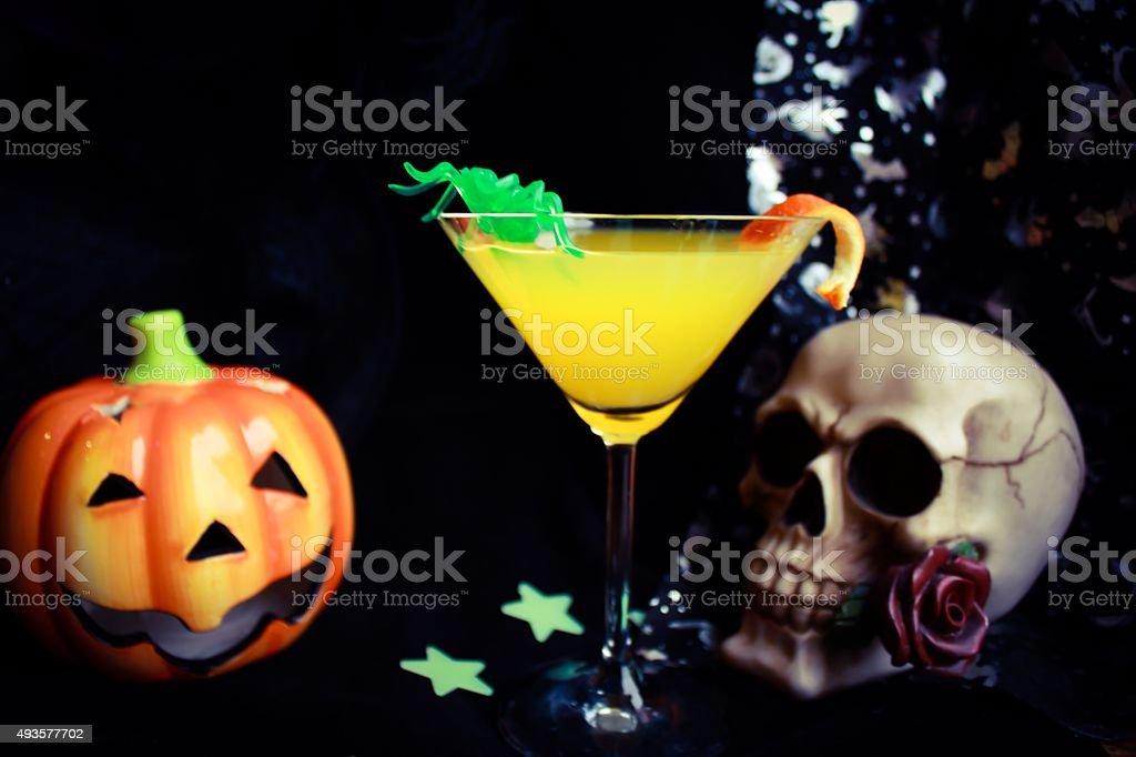 Spooky Halloween Drink stock photo
