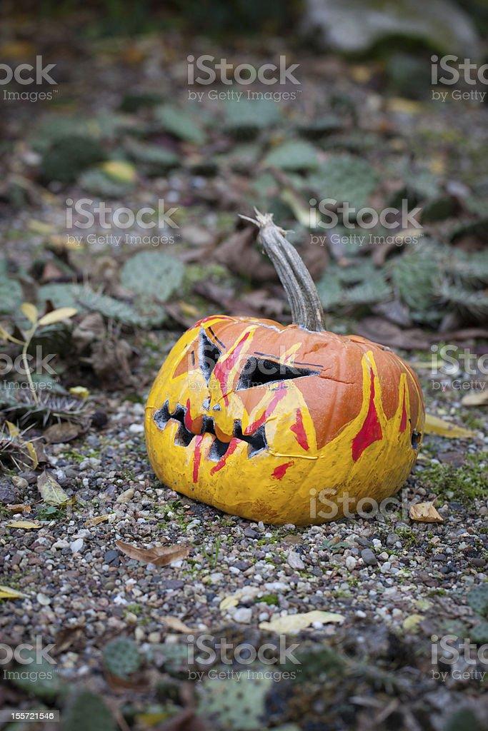 Spooky Halloween Pumpkin royalty-free stock photo