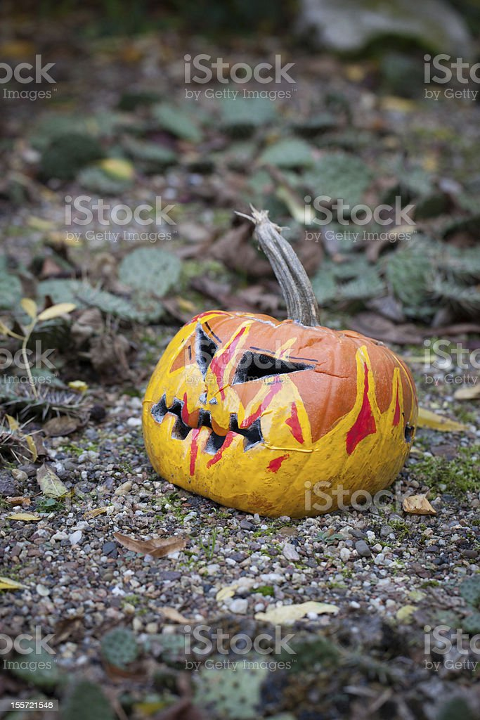 Spooky Halloween Pumpkin stock photo