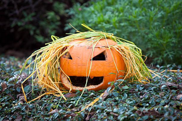 Spooky Halloween Pumpkin stock photo