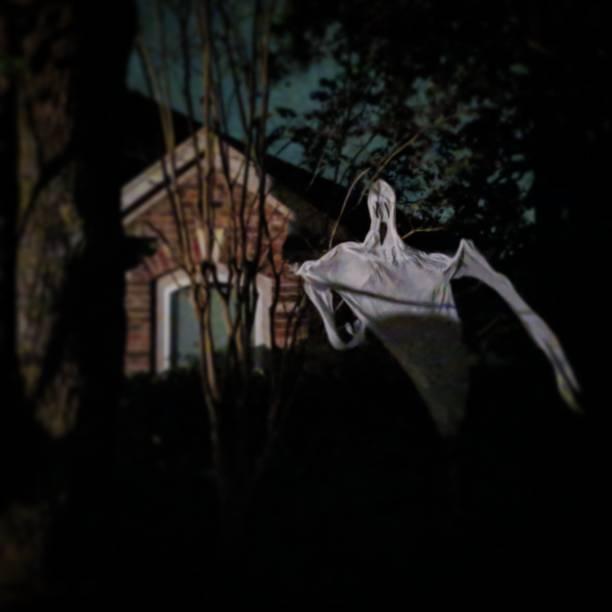 Spooky Halloween Sheet Ghost stock photo