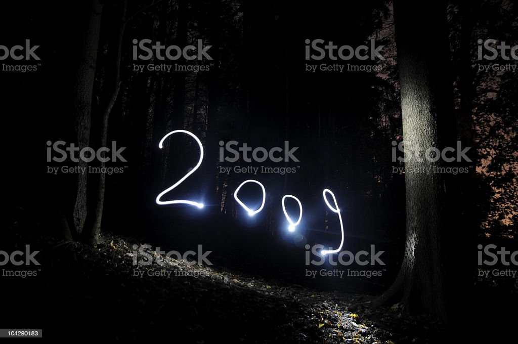 spooky happy new year 2009 stock photo