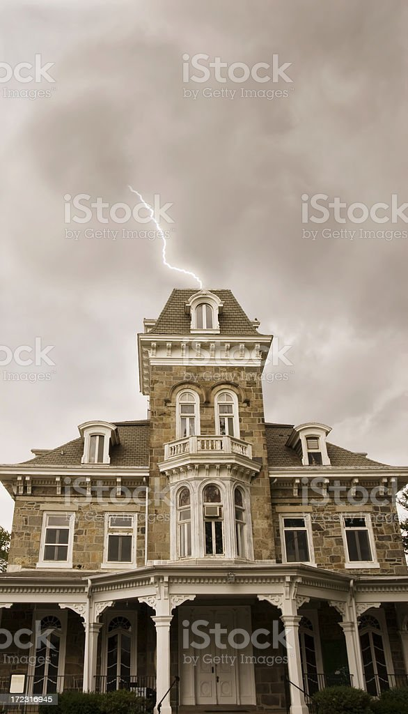 Spooky Mansion royalty-free stock photo
