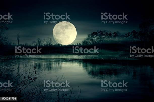 Photo of Spooky moonrise over lake