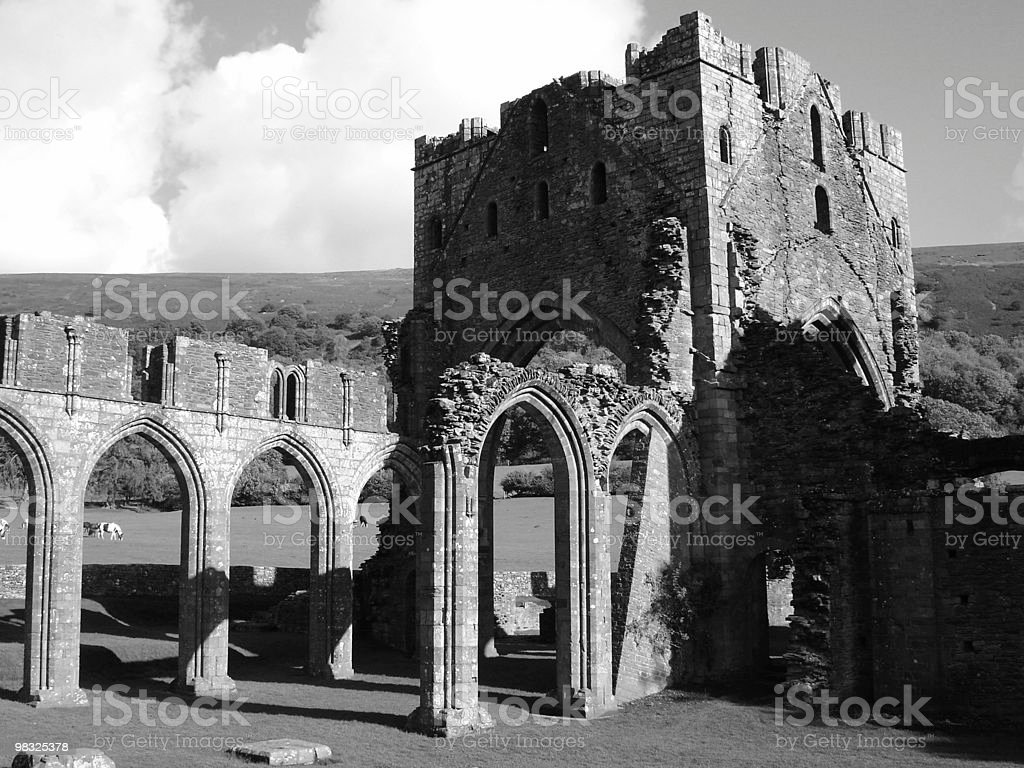 spooky old abby royalty-free stock photo