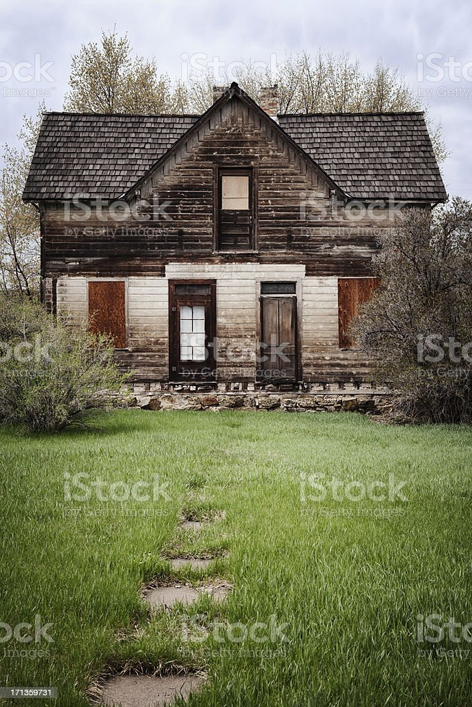 Assustador antiga casa - foto de acervo