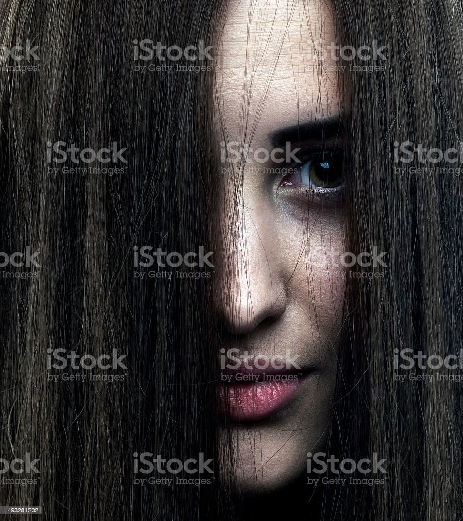 Espeluznante retrato - foto de stock