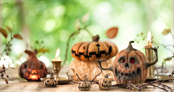 Spooky Pumpkin Jack O' Lantern Background