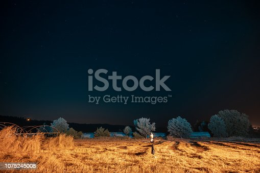 istock Spooky Scarecrow in a Hat 1075245008