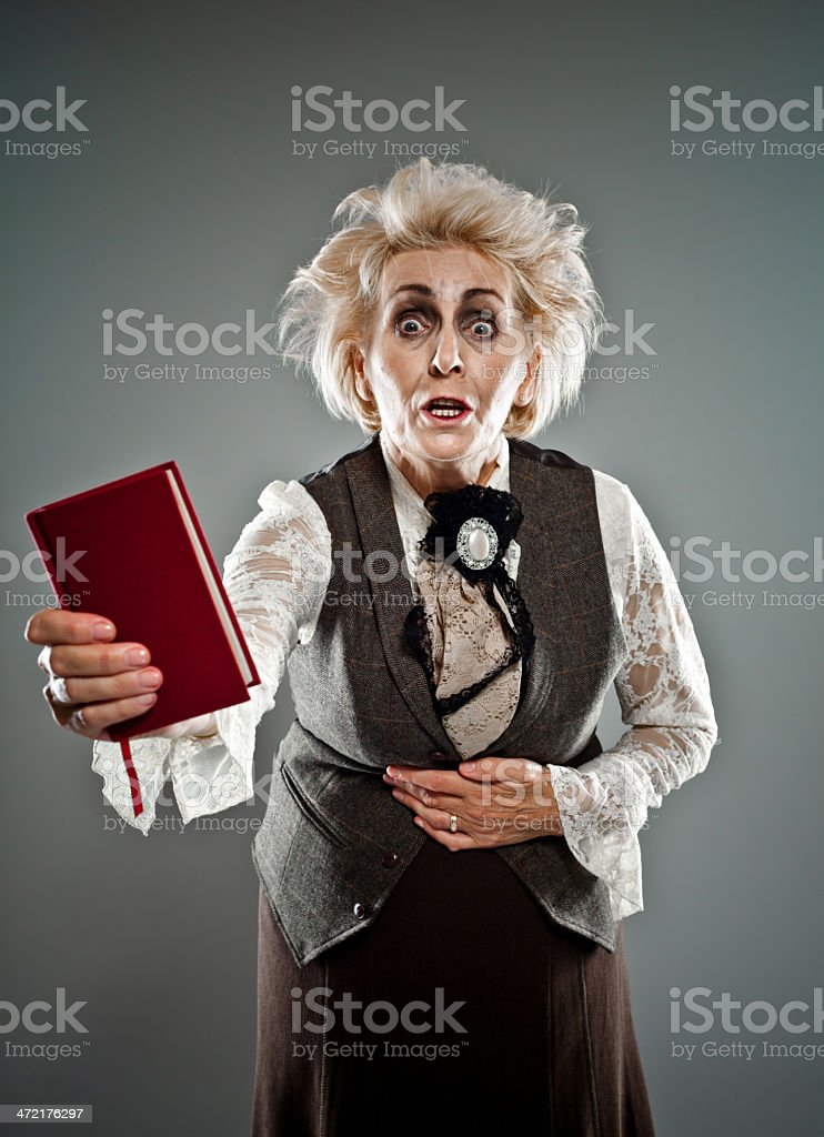 Spooky senior lady royalty-free stock photo