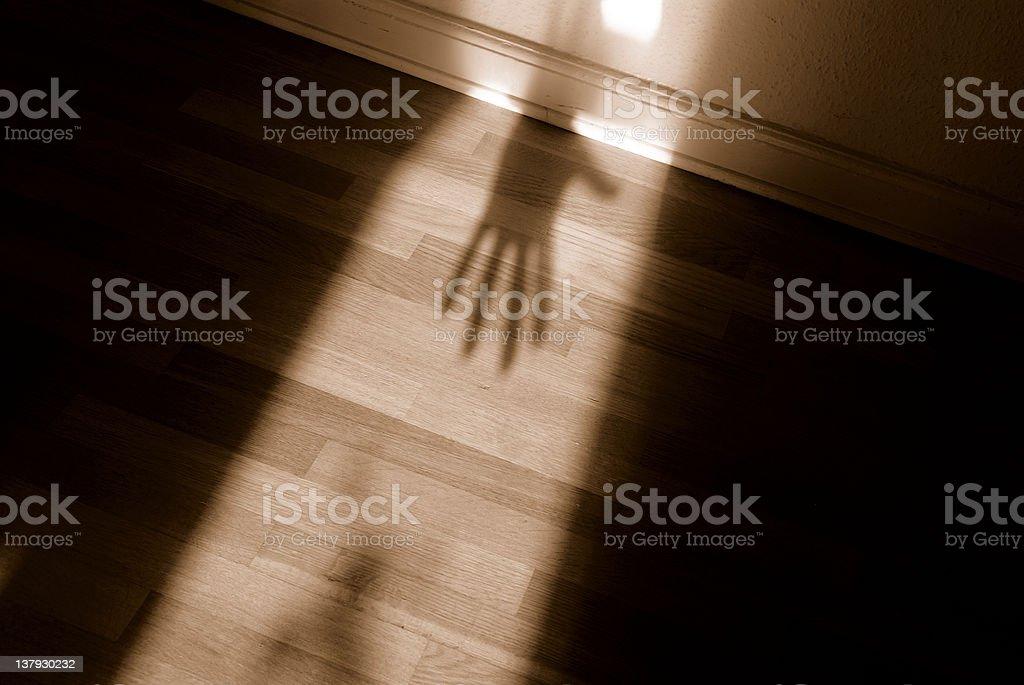 Spooky shadow stock photo
