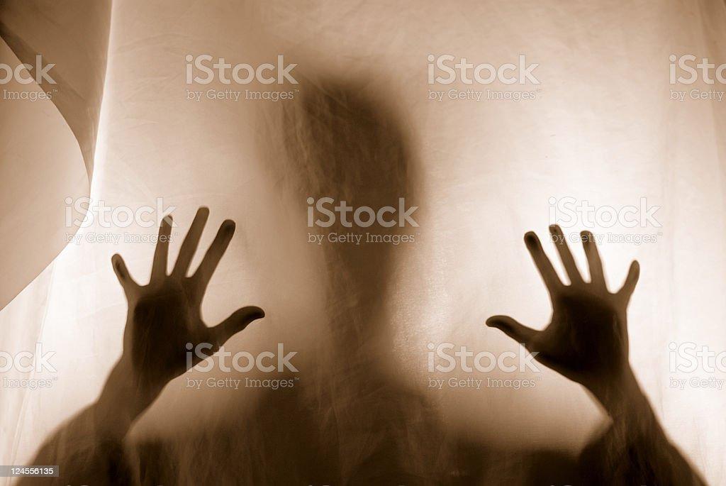 Spooky Silhouette Nightmare stock photo