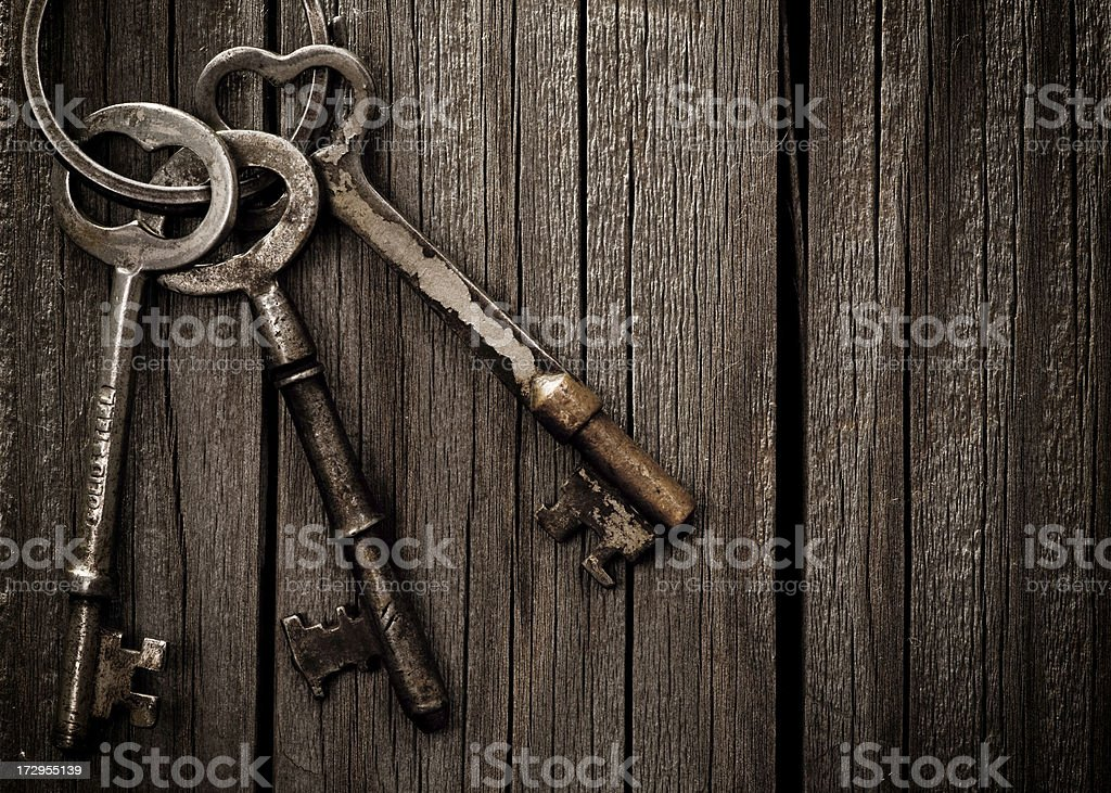 Spooky Skeleton Keys stock photo