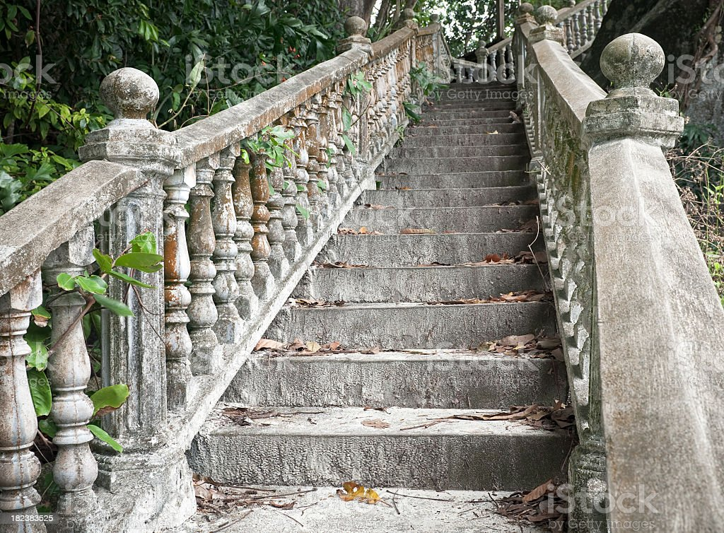 Spooky Staircase royalty-free stock photo
