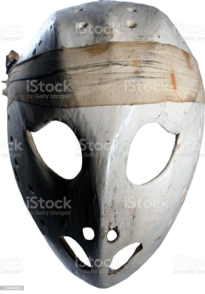 spooky vintage hockey mask stock photo