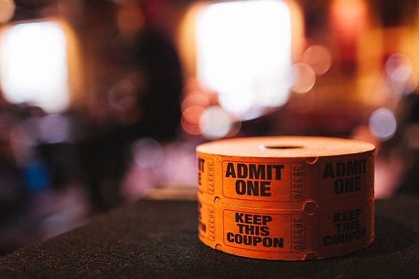 Spool Of Admit One Tickets stock photo