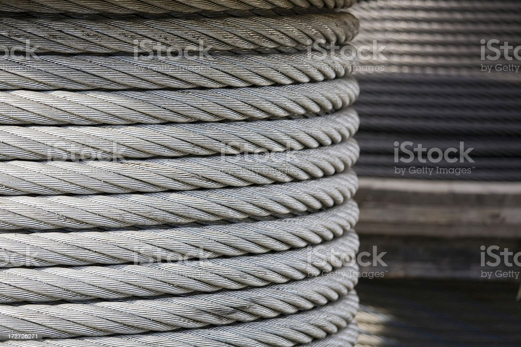 Spool of industrial cable stock photo