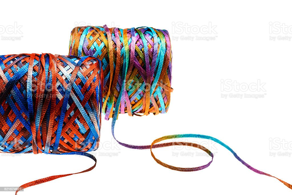 Spool of Multicolor Yarns stock photo