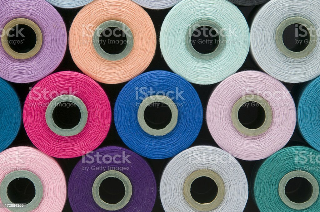 Spools of Colorful Thread royalty-free stock photo