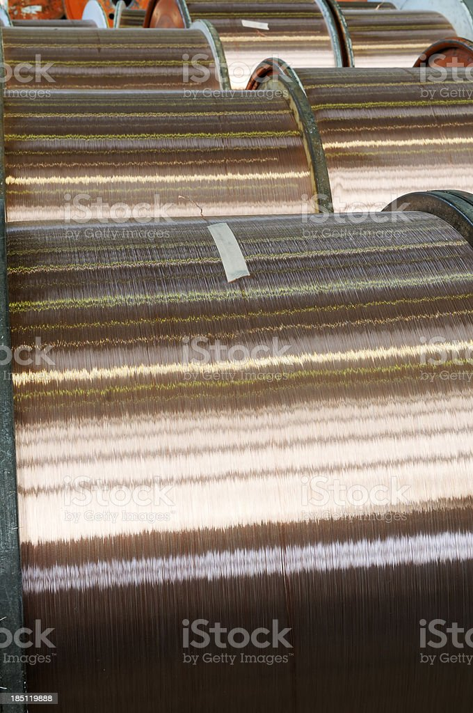 Spools Of Copper Wire royalty-free stock photo